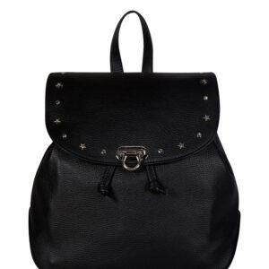 Кожаный черный женский рюкзак FBR-1278