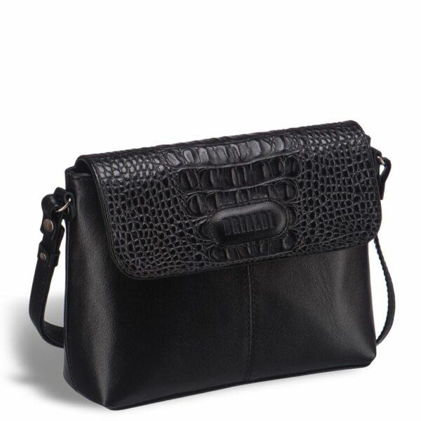 Кожаная черная женская сумка BRL-15208