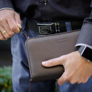 Уникальный коричневый мужской аксессуар BRL-26763 235571