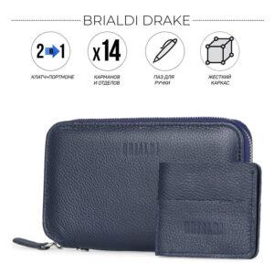 Солидная синяя мужская сумка для мобильного телефона BRL-23098