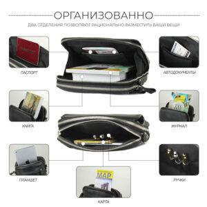 Уникальная черная мужская сумка BRL-26688 235213