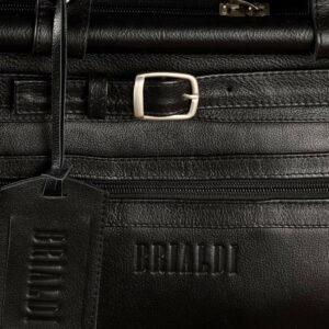 Кожаная черная мужская сумка BRL-149 233335