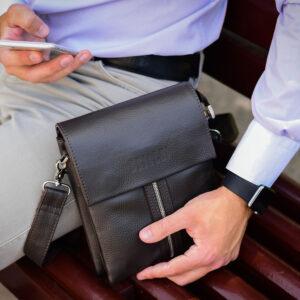 Неповторимая коричневая мужская сумка BRL-19864 234507