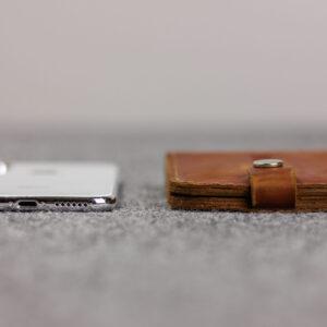 Удобный темно-оранжевый мужской бумажник BRL-7593 233789