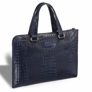 Функциональная синяя женская деловая сумка BRL-12967