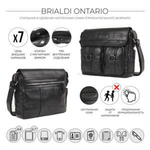 Удобная черная мужская сумка для документов BRL-12995 234142