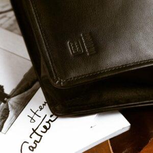 Неповторимая черная мужская сумка BRL-949 233467