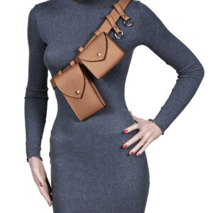 Вместительная темно-оранжевая женская поясная сумка FBR-2454 236555