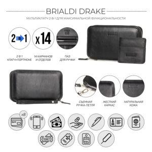 Неповторимая черная мужская сумка для мобильного телефона BRL-23091 234755