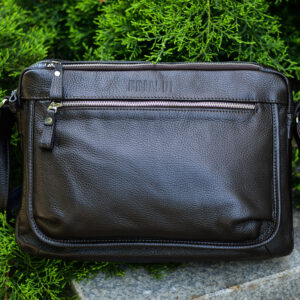 Вместительная коричневая мужская сумка через плечо BRL-19858 234529