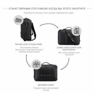 Удобная черная дорожная сумка портфель BRL-23144 234958