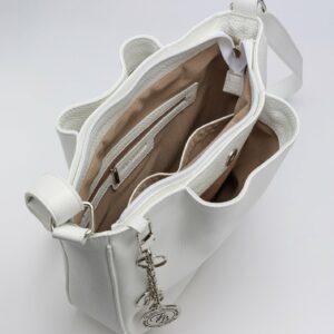 Вместительная белая женская сумка FBR-971 235751