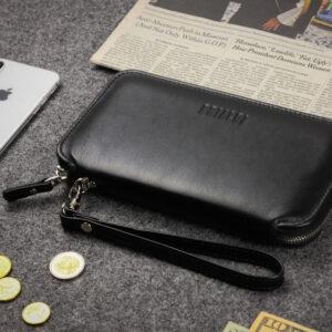 Неповторимая черная мужская сумка для мобильного телефона BRL-23091 234789