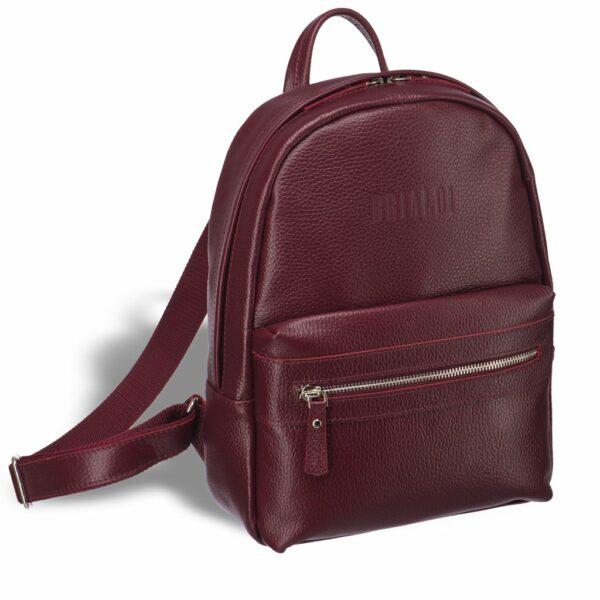 Солидный бордовый женский городской рюкзак BRL-17482
