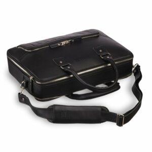 Вместительный черный мужской портфель рюкзак BRL-23165 235035