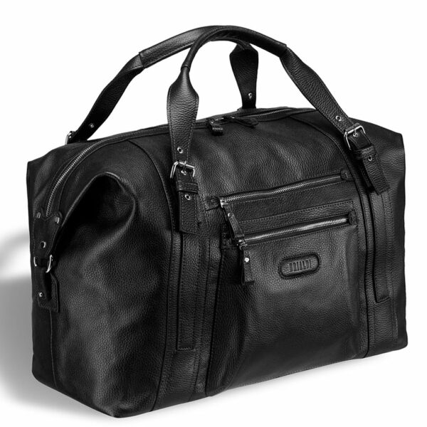 Кожаная черная мужская сумка BRL-11874