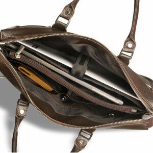 Солидная коричневая мужская сумка для документов BRL-12048 233943