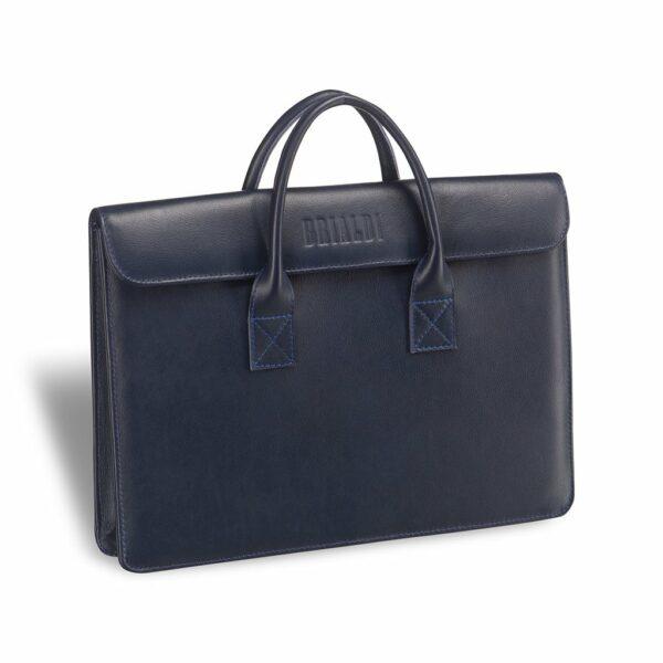Деловая синяя женская сумка BRL-3410