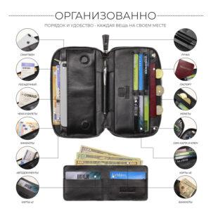 Неповторимая черная мужская сумка для мобильного телефона BRL-23091 234779