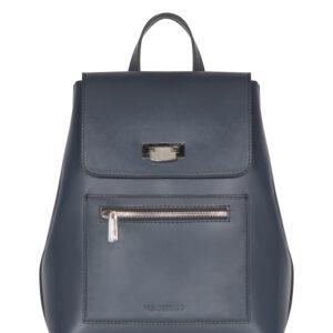 Кожаный синий женский рюкзак FBR-1186