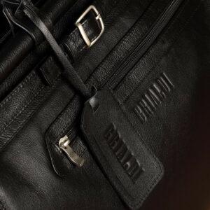 Кожаная черная мужская сумка BRL-149 233332