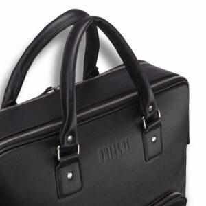 Вместительный черный мужской портфель рюкзак BRL-23165 235049