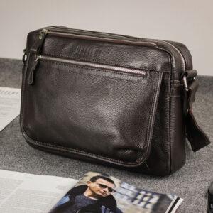 Вместительная коричневая мужская сумка через плечо BRL-19858 234500