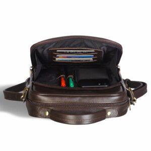 Функциональная коричневая мужская барсетка BRL-12936 234082