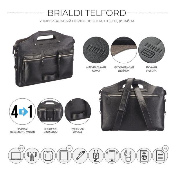 Уникальный черный городской рюкзак BRL-28423