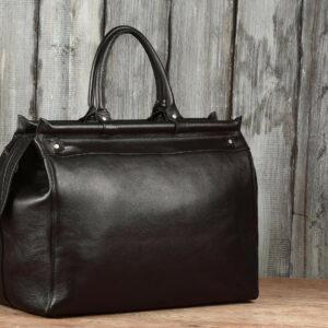 Кожаная черная мужская сумка BRL-149 233341