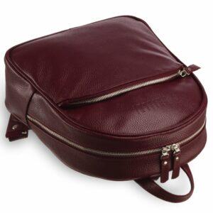 Кожаная бордовая женская сумка BRL-17486 234373