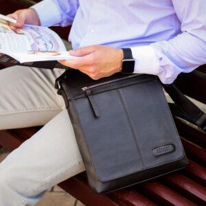 Неповторимая коричневая мужская сумка для документов BRL-11724 233867