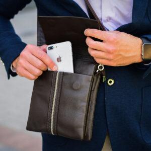 Неповторимая коричневая мужская сумка BRL-19864 234535
