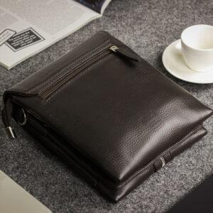 Неповторимая коричневая мужская сумка BRL-19864 234558