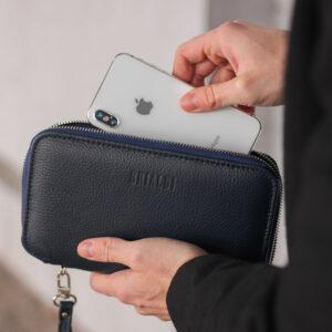 Солидная синяя мужская сумка для мобильного телефона BRL-23098 234853