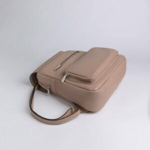 Деловой бежевый женский рюкзак FBR-2887 236574