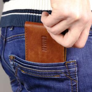 Удобный темно-оранжевый мужской бумажник BRL-7593 233784