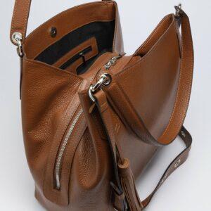 Модная коричневая женская сумка FBR-2783 236079
