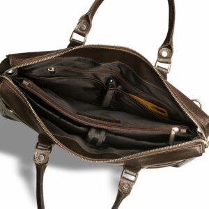 Солидная коричневая мужская сумка для документов BRL-12048 233946