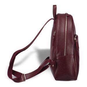 Кожаная бордовая женская сумка BRL-17486 234366