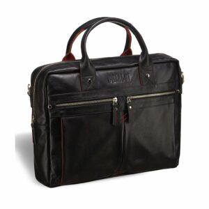 Деловая черная мужская сумка для документов BRL-3234