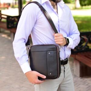 Удобная коричневая мужская сумка BRL-19878 234722