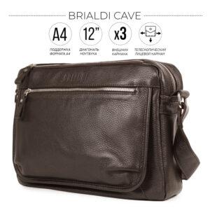 Вместительная коричневая мужская сумка через плечо BRL-19858