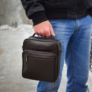 Солидный коричневый мужской планшет BRL-12937 234106