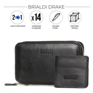 Неповторимая черная мужская сумка для мобильного телефона BRL-23091