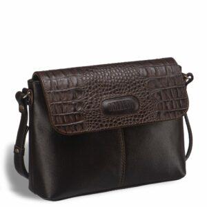 Вместительная коричневая женская сумка через плечо BRL-15209