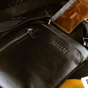 Функциональная черная мужская сумка через плечо BRL-1518 233543