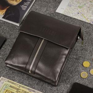 Неповторимая коричневая мужская сумка BRL-19864 234546