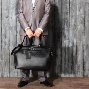 Кожаная черная мужская сумка BRL-149 233351