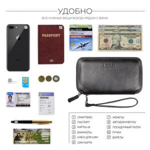 Неповторимая черная мужская сумка для мобильного телефона BRL-23091 234843